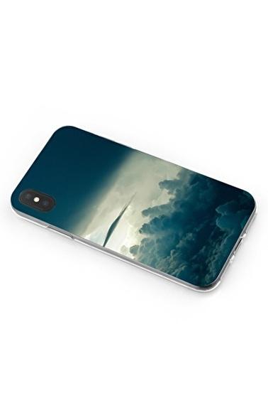 Lopard iPhone Xs Max Kılıf Silikon Arka Kapak Koruyucu Bulutların Üstünde Desenli Full HD Baskılı Renkli
